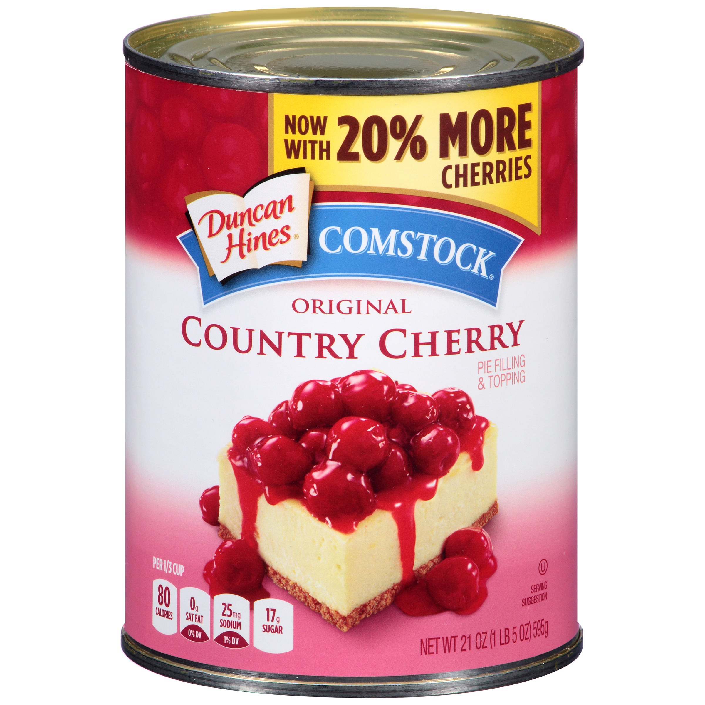 Comstock Original Country Cherry Pie Filling Or Topping, 21 oz by Pinnacle Foods Group LLC,