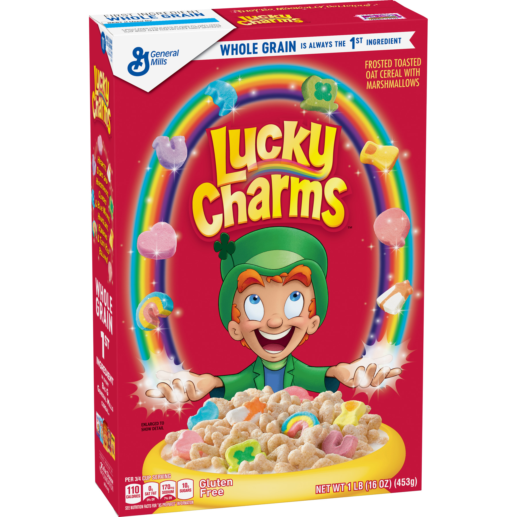 Lucky Charms Marshmallow Gluten Free Cereal, 16 Oz (Pack of 2)