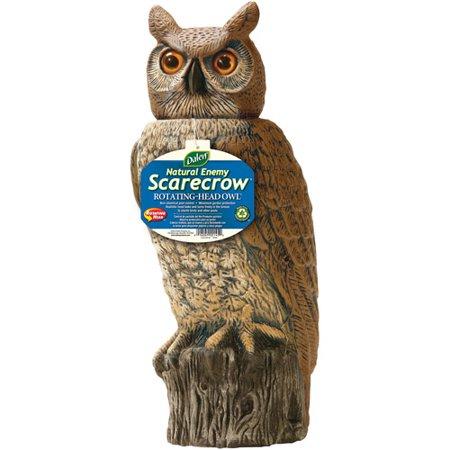 Rotating Head Owl Scarecrow Device