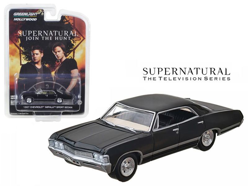 "1967 Chevrolet Impala Sedan 4 Doors Black From Supernatural 2005 Current TV Series"" 1... by GreenLight"