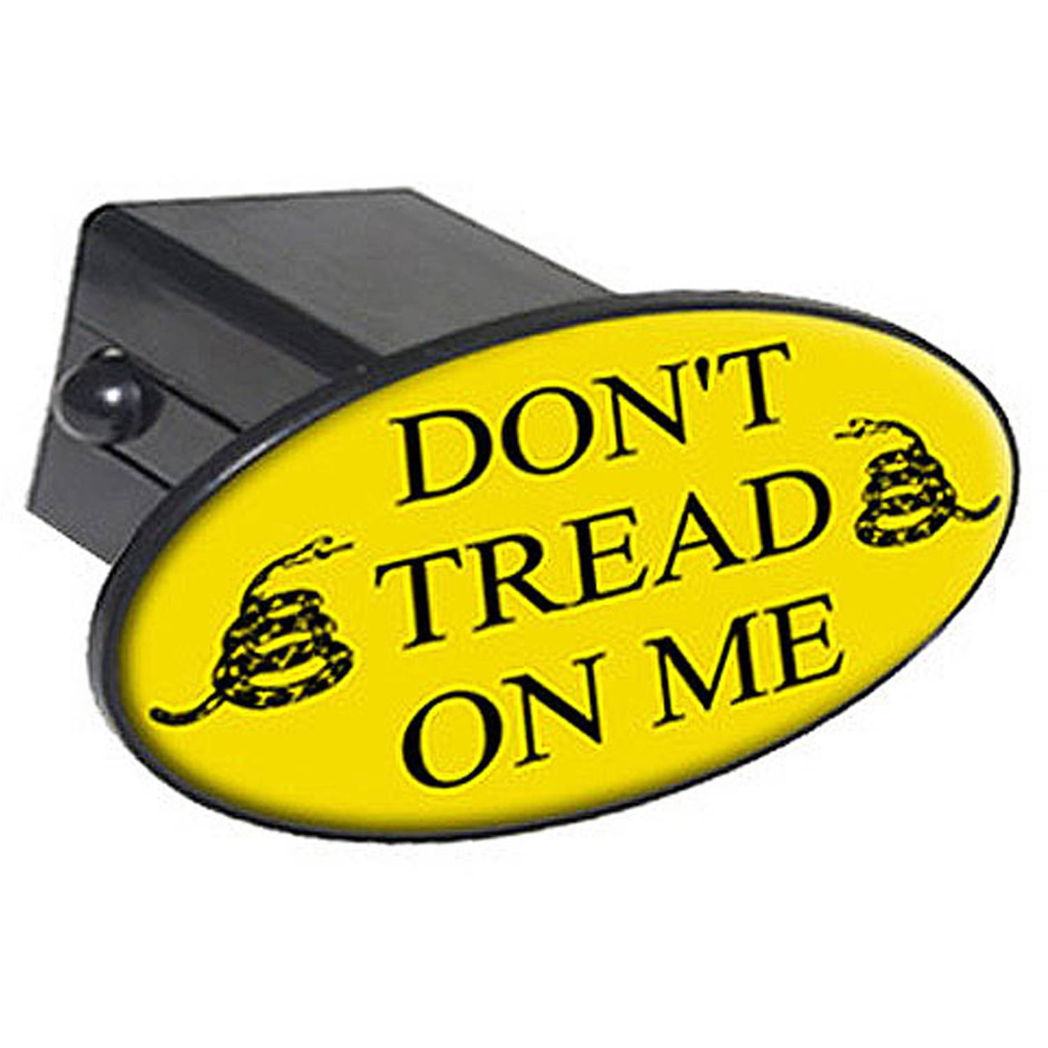 "Gadsden Don't Tread On Me 2"" Oval Tow Trailer Hitch Cover Plug Insert"