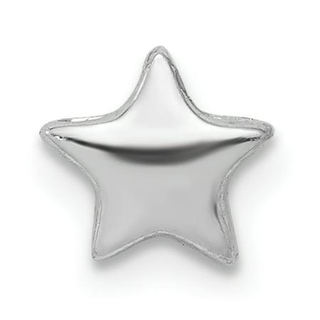- 925 Sterling Silver Star Slide Pendant Charm Necklace Chain Celestial For Women