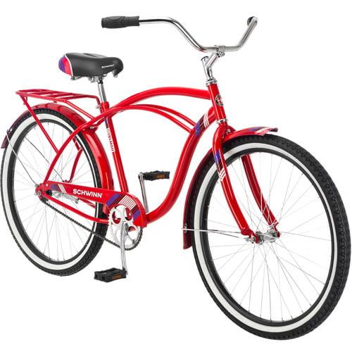 """26"""" Schwinn Delmar Men's Cruiser Bike, Red"""