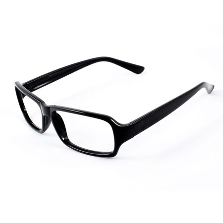 Ladies Black Plastic Full Rim No Lens Rectangle Eyeglasses Spectacles (Full Rim Metal Eyeglasses Frame)