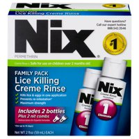 Nix Lice Killing Creme Rinse, Family Pack, Nit Combs