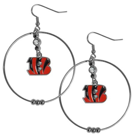 Cincinnati Bengals Official Nfl Hoop Earrings By Siskiyou 277030