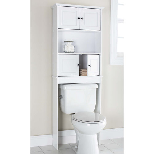 Etonnant Mainstays 2 Cabinet Wood Spacesaver, White