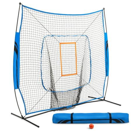 Training Equipment Heavy Duty Fiberglass Pitching/Batting Net, Blue and