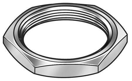 Panel Nut 3//8-32 Thread 1//2 Hex Brass Nickel Pack of 50