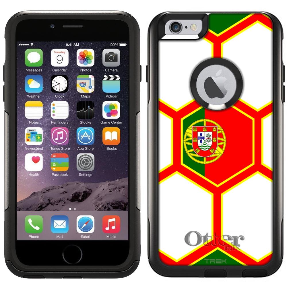Otterbox Commuter Case for Apple iPhone 6 Plus Soccer Ball Portugal Flag by Trek Media Group