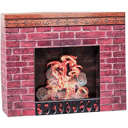Fireplace Prop Cardboard Stand-Up (Cardboard Fireplace For Christmas)