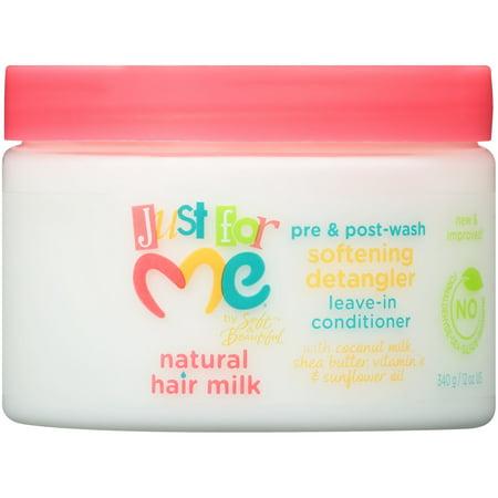 Just For Me® Natural Hair Milk Pre & Post-Wash Softening Detangler Leave-In Conditioner 12 oz.