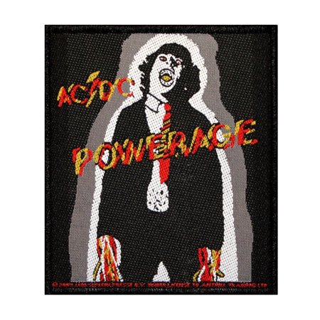 AC/DC ACDC Powerage Album Cover Art Patch Hard Rock Music Woven Sew On - Rock Album Cover Art