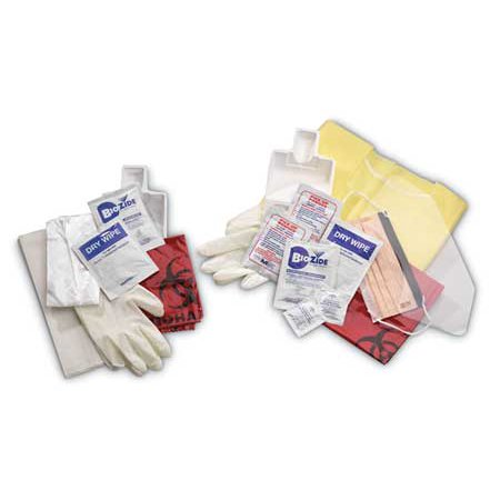 3ZDW1 Biohazard Spill Kit, Pull String Bag, (Biohazard Spill Kit)