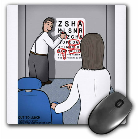 3Drose Eye Chart Word Search   Visit To The Eye Doctor  Mouse Pad  8 By 8 Inches