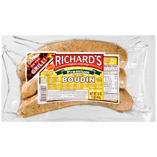 Richard's Cajun Country Hot Boudin, 16 oz
