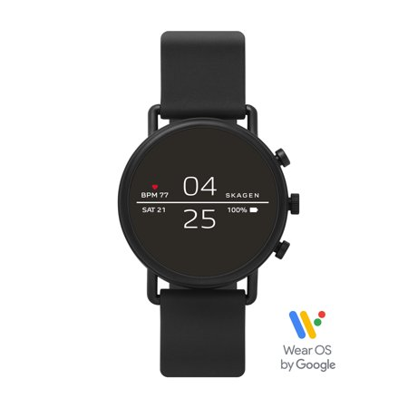 Skagen Falster 2 Smartwatch - Black Silicone - Powered with Wear OS by Google™