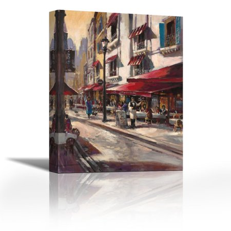 Cafe Toulouse Contemporary Fine Art Giclee On Canvas Gallery Wrap Wall D Cor Art Painting 20 X 27 Inch Ready To Hang