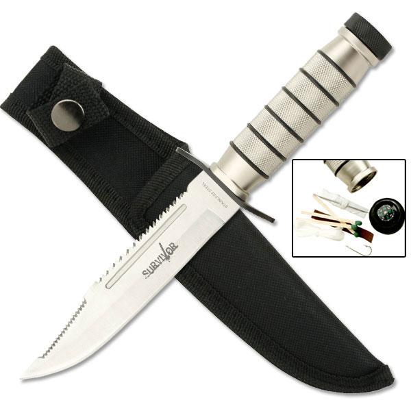 """NEW! 9.5"""" Mercenary Knife w/ Waterproof Survival Kit"""