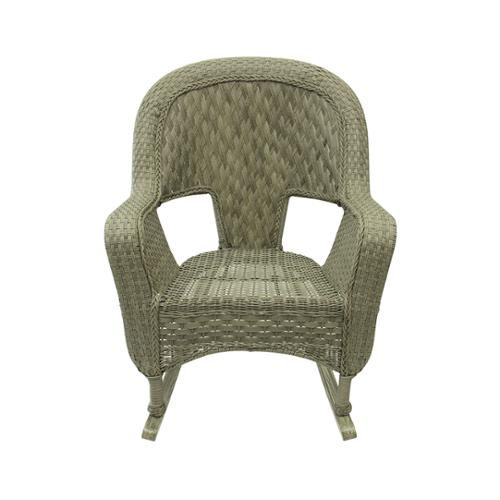 "38"" Northport Driftwood Green Resin Wicker Outdoor Patio Rocking Chair"