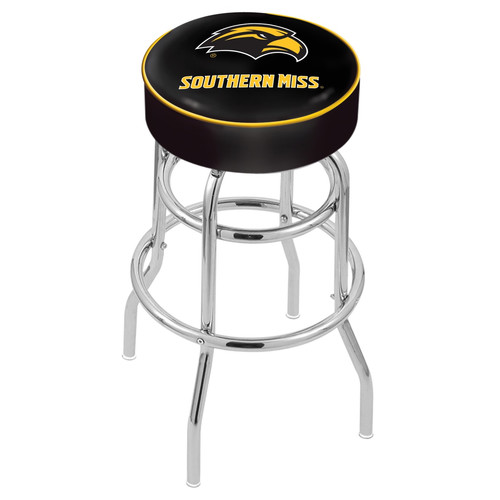 NCAA Swivel Stool with Double Ring Base by Holland Bar Stool, 30'' - Southern Miss