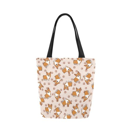 HATIART Cute Corgi Dog Reusable Grocery Bags Grocery Tote Bag Washable Shopping Bags Shoulder Handbag for Women - image 1 of 3