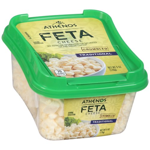 Atheno Traditional Feta Cheese, 6 oz