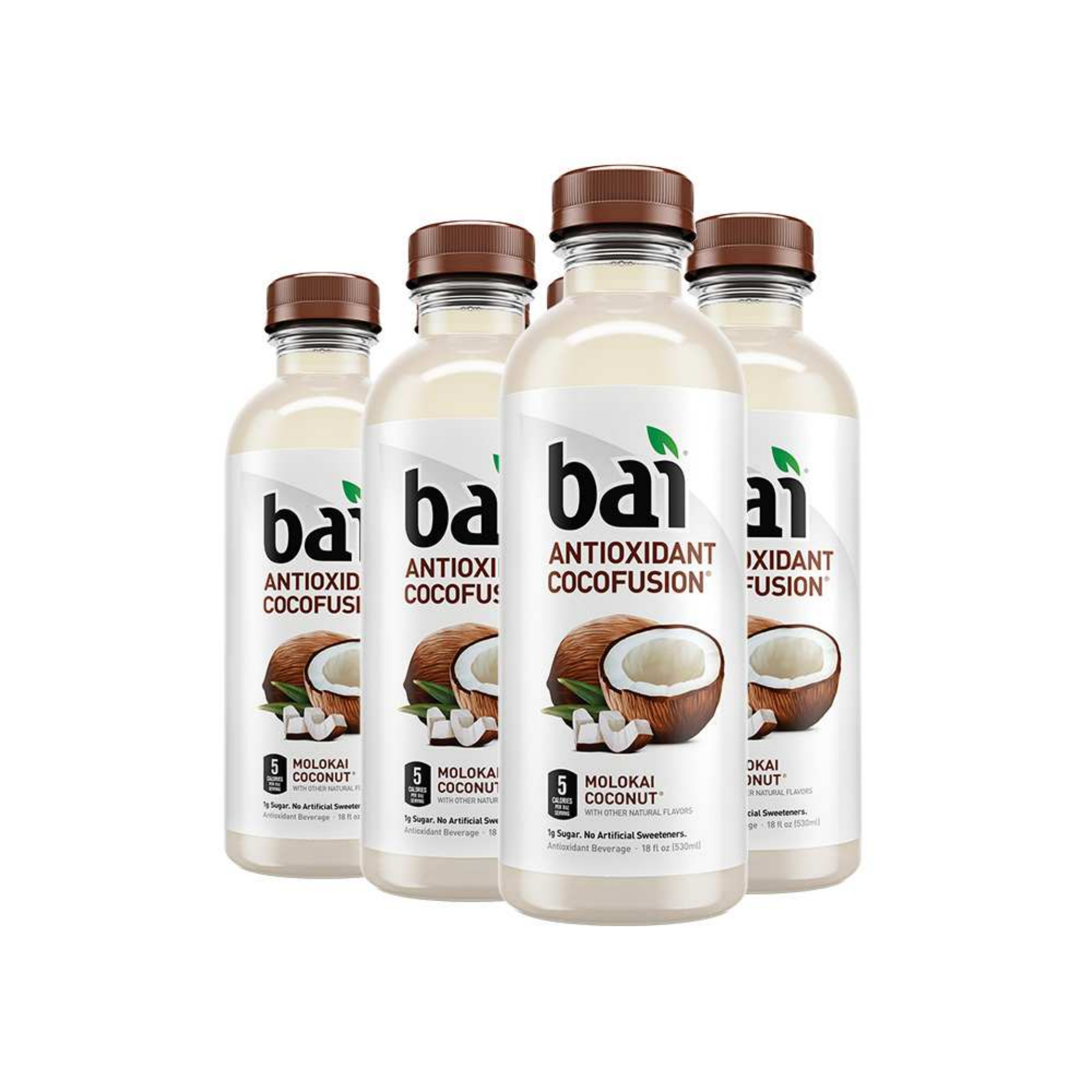 Bai Cocofusions Molokai Coconut, Antioxidant Infused Beverage, 18 fl oz, 6 pack
