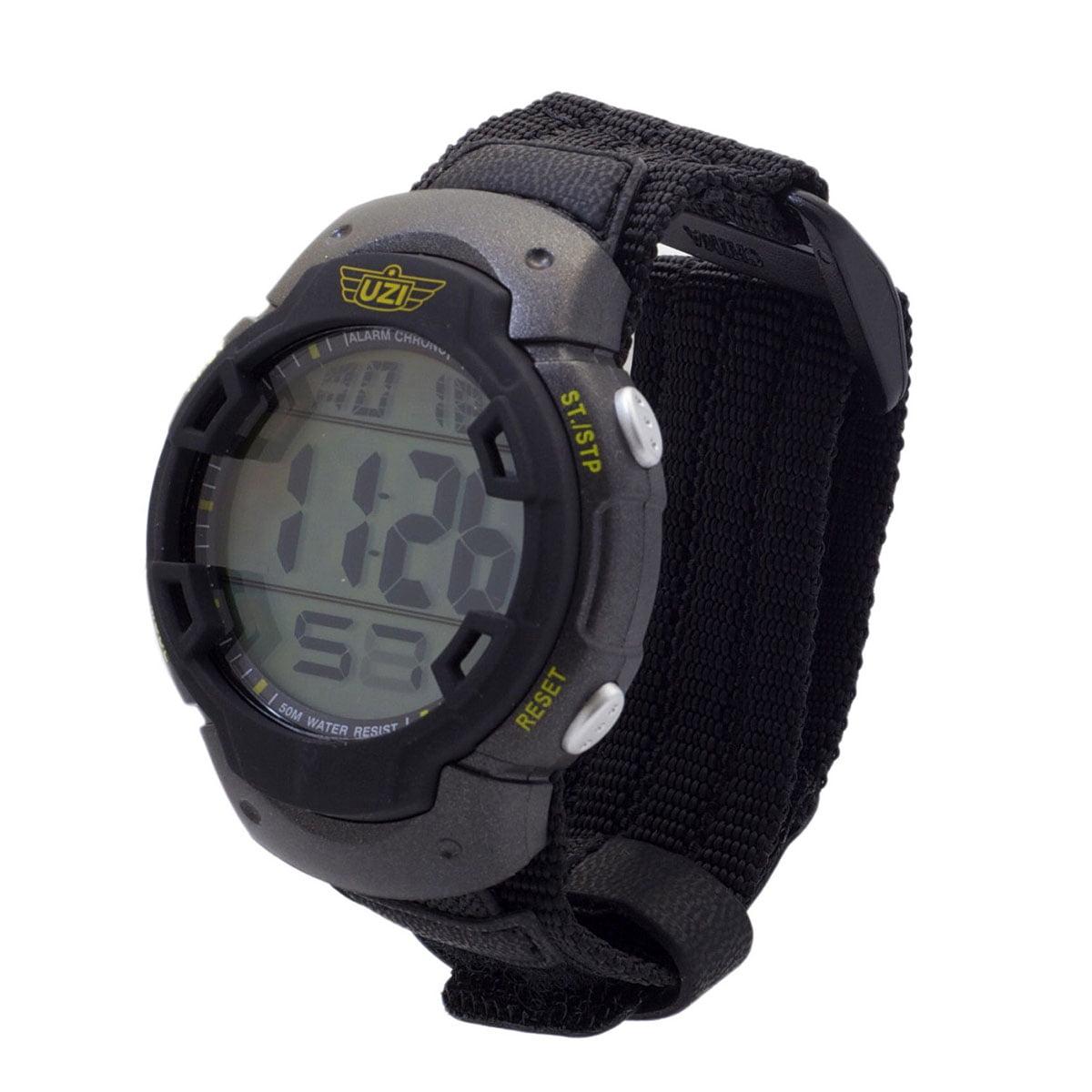 Uzi Men's Uzi-89-N The Guardian Black Nylon Strap Watch Multi-Colored