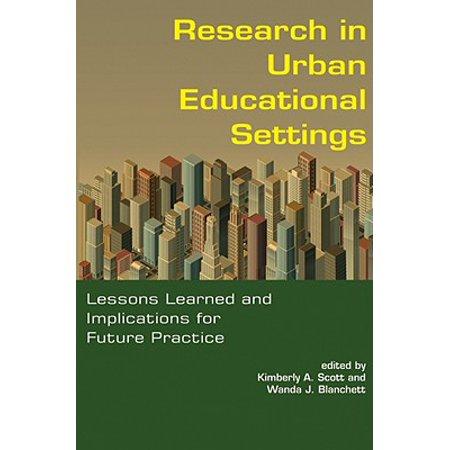 Research in Urban Educational Settings - eBook ()