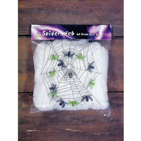 Spider Web with Spiders Halloween Decor, 2.11 oz (Halloween Decor Ideas Outdoor)