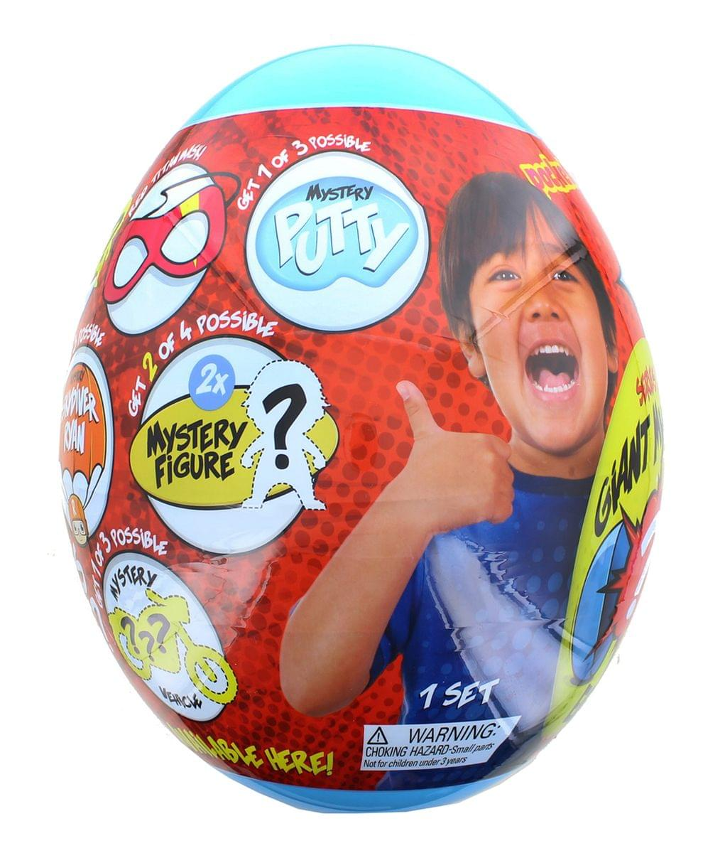 Ryan's World Giant Mystery Egg Series 2 Blue (Limited Edition) with Pack A Hatch