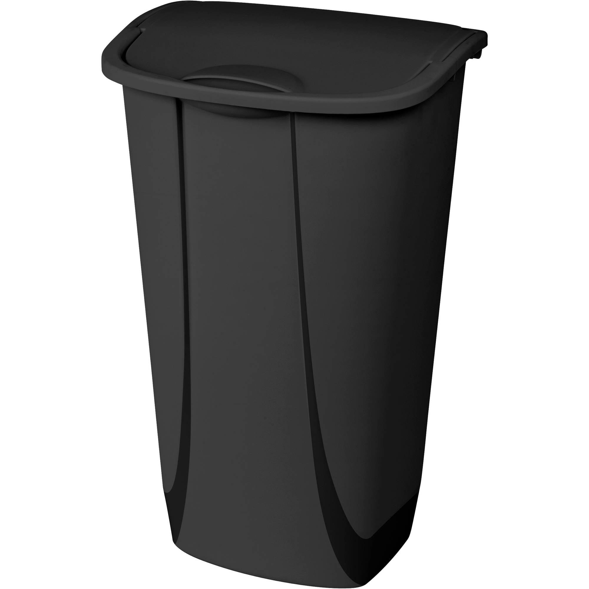 Mainstays 11 Gallon Swingtop Wastebasket, Black