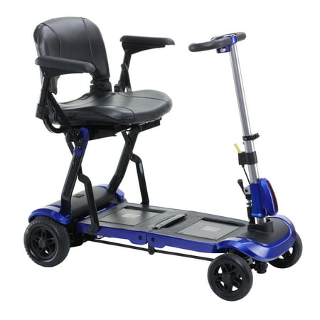 Drive Medical ZooMe Flex Ultra Compact Folding Travel 4 Wheel Scooter,