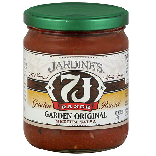 Jardine's 7J Ranch Garden Reserve Garden Original Medium Salsa, 15.5 oz, (Pack of 6)