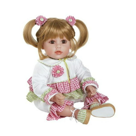 Adora Gingham Galore Blonde Hair With Brown Eyes 20  Baby Doll