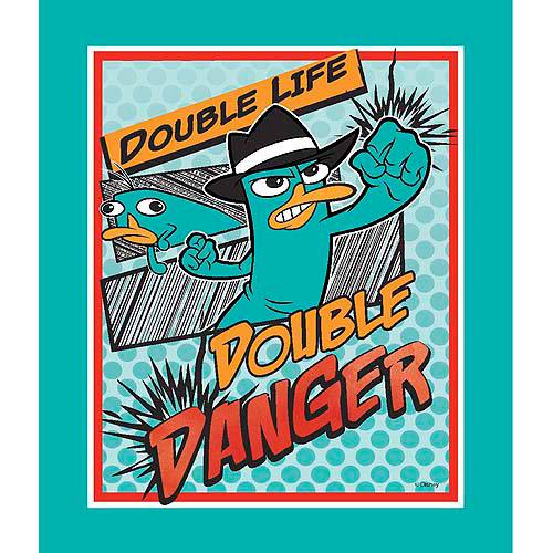 Springs Creative Disney Phineas and Ferb Agent P Comic Panel Fabric by the Yard