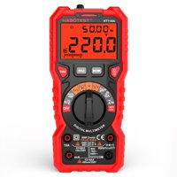 HABOTEST HT118A Digital Multimeter Auto Multi-meter 6000 Counts True RMS Measuring AC/DC Voltage Current Resistance Capacitance Frequency Temperature NCV Test Diode with LCD Backlight Flashlight