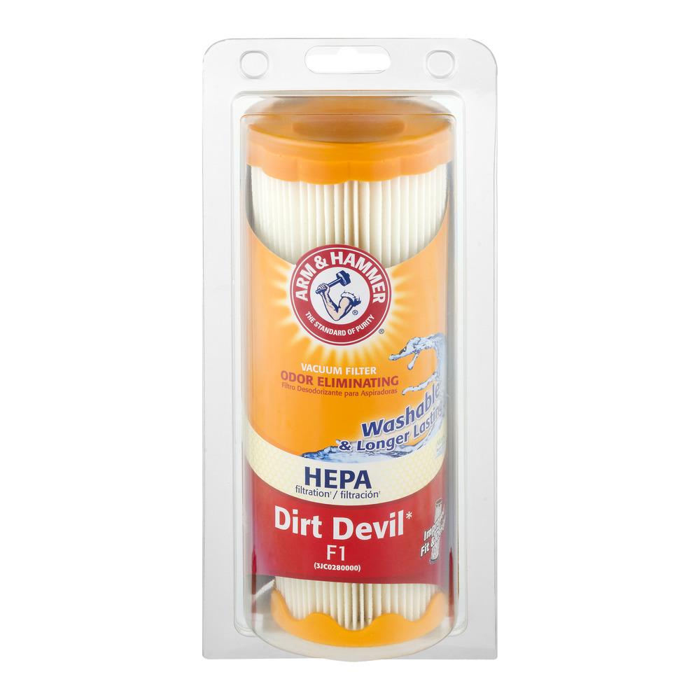 Arm & Hammer Odor Eliminating Vacuum Filter Dirt Devil F1, 1.0 CT