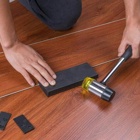 Houkiper 23pcs Wood Flooring, Rubber Laminate Flooring