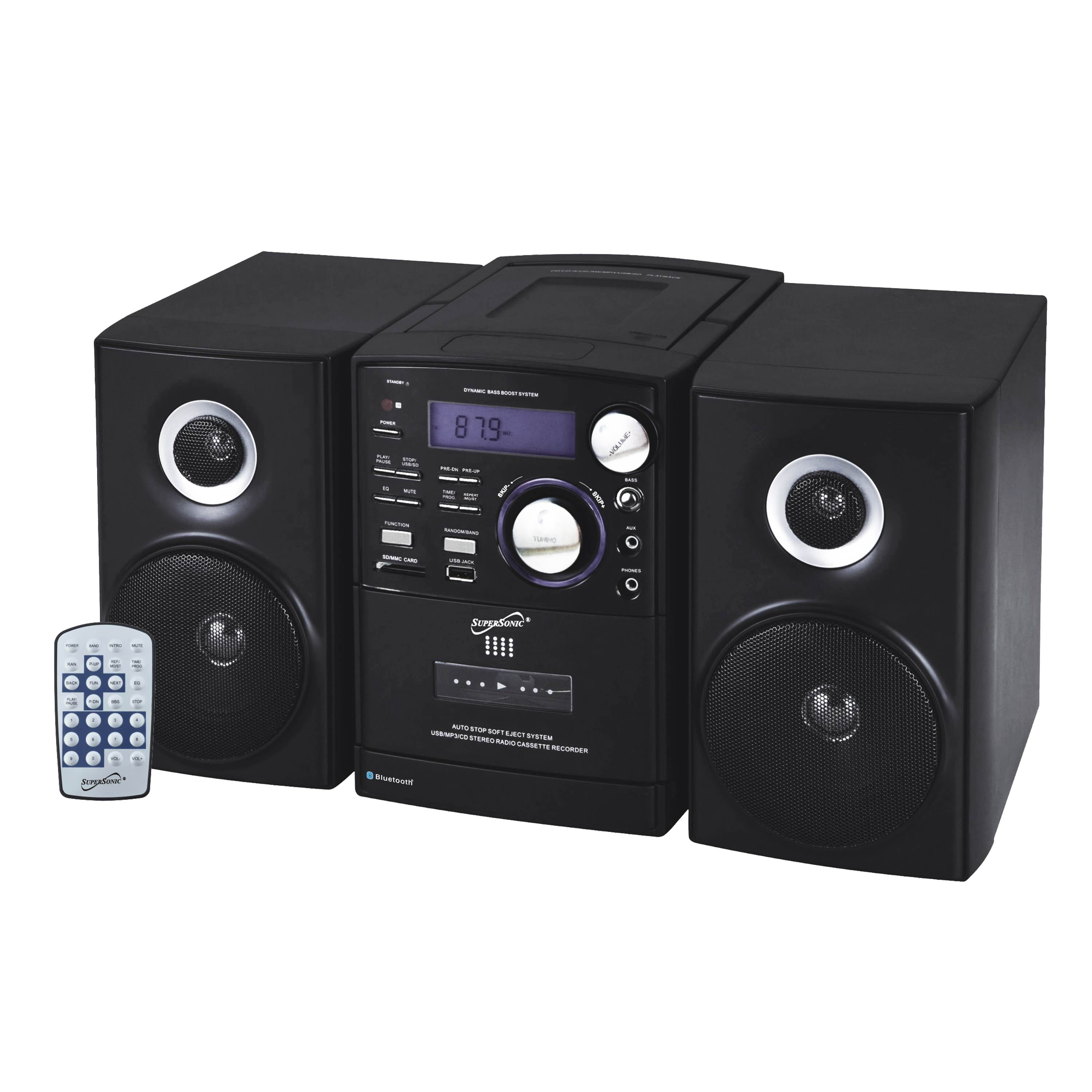 Bluetooth Portable Audio With Built-in AM/FM Radio System