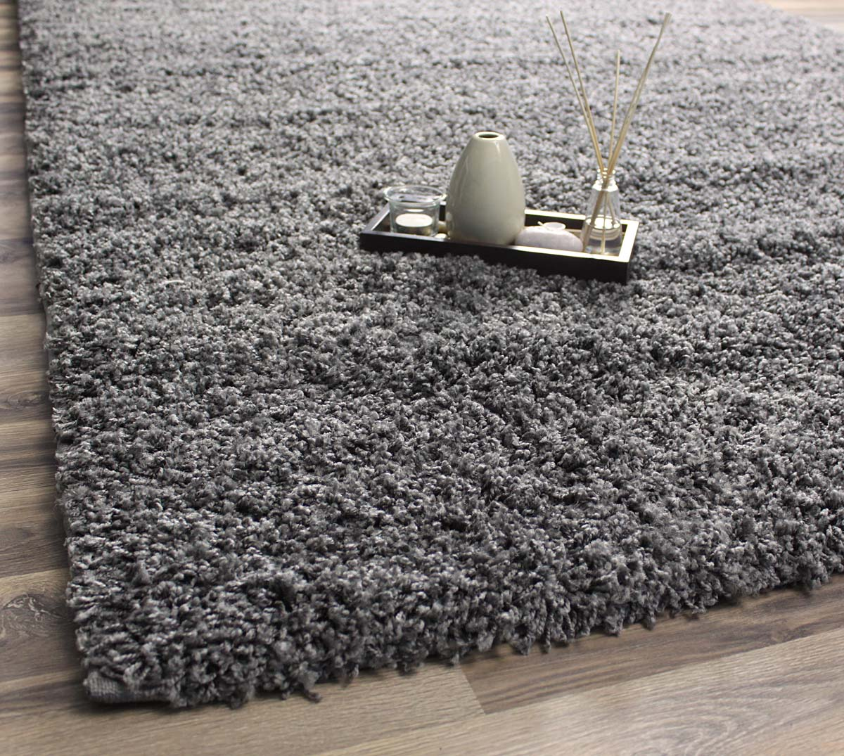 super area rugs, cozy plush solid gray shag rug , 2' x 3