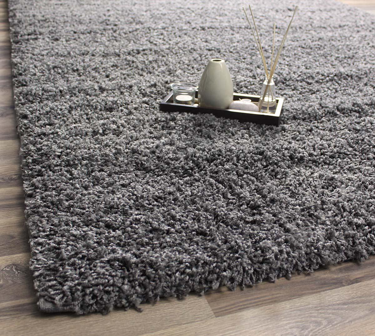 super area rugs cozy plush solid gray shag rug  ' x   - super area rugs cozy plush solid gray shag rug  ' x '  walmartcom