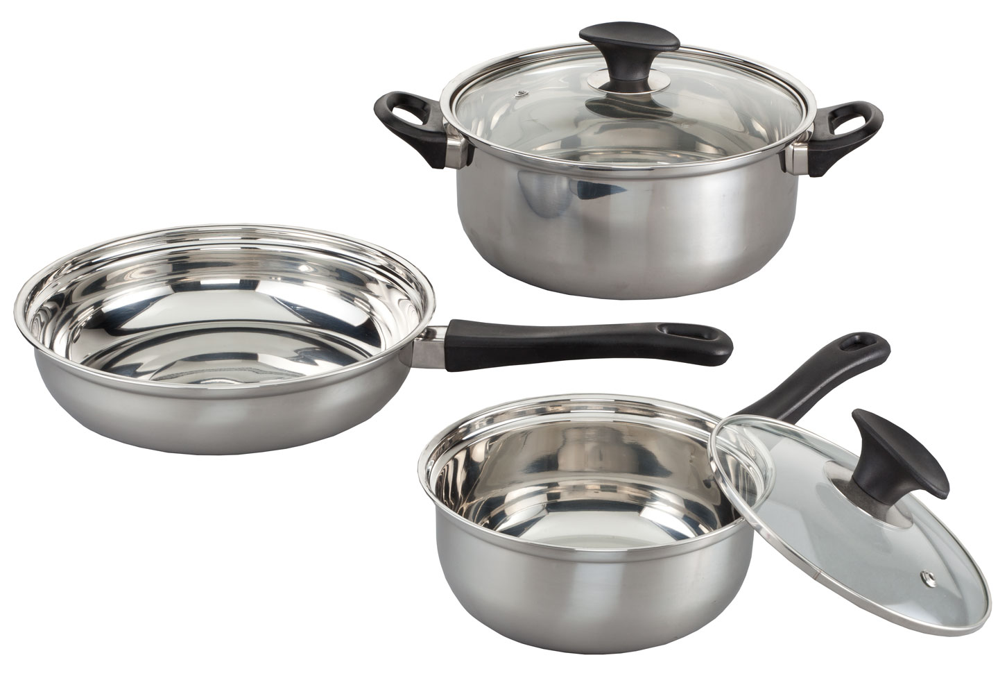 5 Pc. Stainless Steel Cookware Set by Miles Kimball