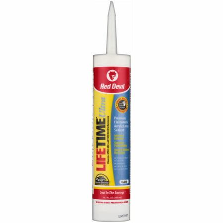 Red Devil Lifetime Ultra 230 Premium Elastomeric Acrylic Latex Sealant Clear 10.1 fl. oz. for $<!---->