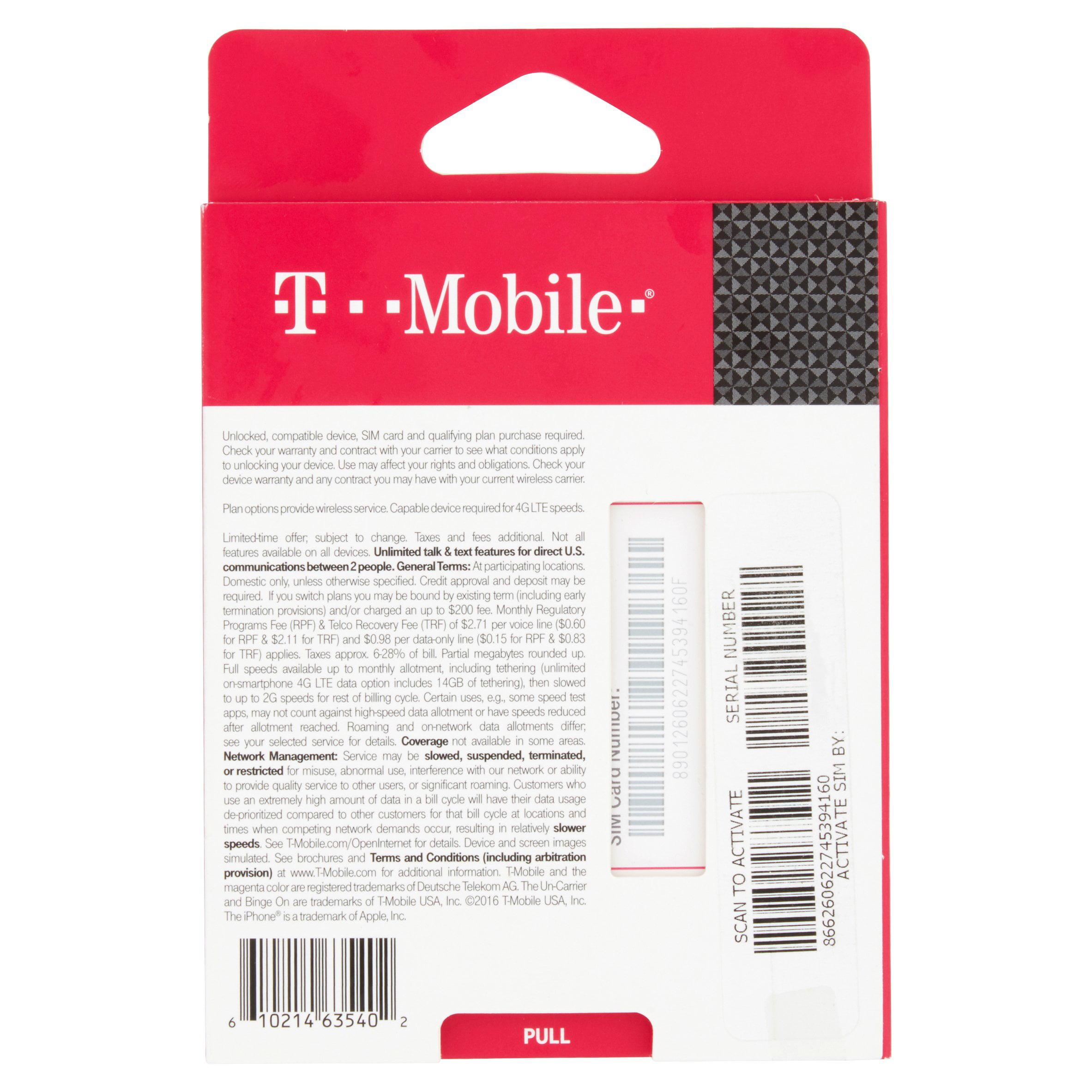 T-Mobile SIM Starter Kit - Walmart com