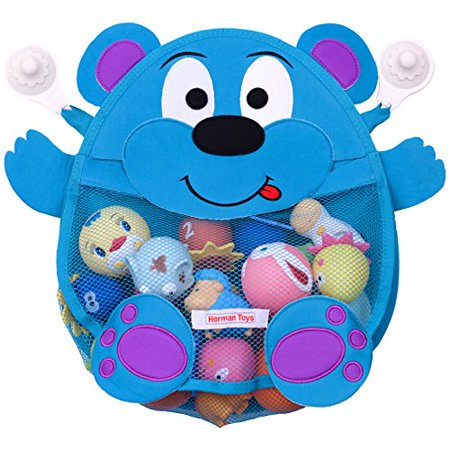 Herman Bear Baby Bath Toy Organizer - Toddler Bath Tub Toy Storage ...