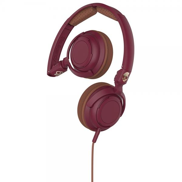 Skullcandy Lowrider Maroon/Brown/Copper On Ear Headphones