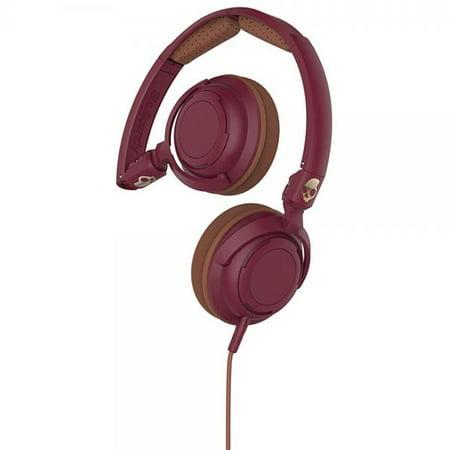 Skullcandy Lowrider Maroon/Brown/Copper On Ear Headphones ()