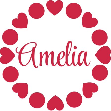 Shapes Heart and Circle Personalized Customized Wall Decal Custom Viny